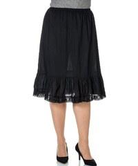 Große Größen: sheego Style Unterrock mit Spitze, schwarz, Gr.40-56