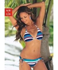 Große Größen: Triangel-Bikini, Buffalo, blau gestreift, Gr.34-42