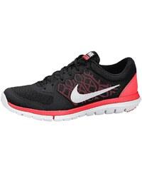 Große Größen: Nike Flex 2015 RN Laufschuh, Schwarz-Weiß-Neon-Rot, Gr.36-38