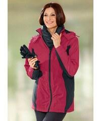 Große Größen: Classic Basics Jacke aus wind- und wasserabweisender Microfaser, rot-schwarz, Gr.38-54