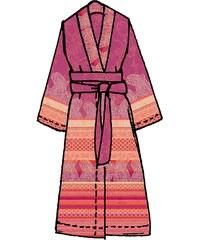 Große Größen: Kimono, Bassetti, »Tiziano«, mit verschiedenen Mustern, rot, Gr.L/XL-L/XL