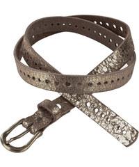 J. JAYZ Kožený pásek s fóliovým potiskem, J. Jay sepraná zlatá - Normální délka (N)