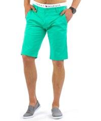 Mátově zelené pánské kraťasy