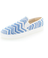 United Fashion Modro-bílé mokasíny Kristien