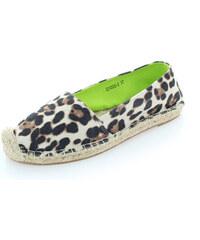 United Fashion Hnědé leopardí mokasíny Griner
