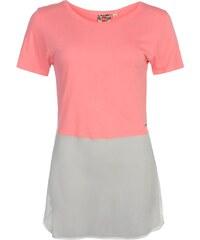 tričko dámské Lee Cooper Chiffon Neon Coral Pink