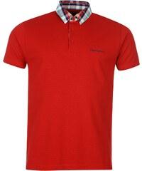 Polokošile pánská Pierre Cardin Check Collar Red