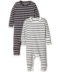 MINI MIZE by MAMLICIOUS Unisex Baby Schlafstrampler Mmmoon Nightsuit L/s - U - 2-pack 15