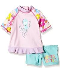 "Aquatinto Baby - Mädchen Badeshirt und -hose mit ""Octopus & Cute Little""-Print, UV +50"