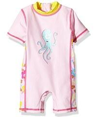 Aquatinto Baby - Mädchen Bade-Einteiler mit Octopus-Print, UV +50