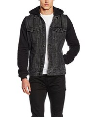Urban Classics Herren Jacke Hooded Denim Fleece Jacket