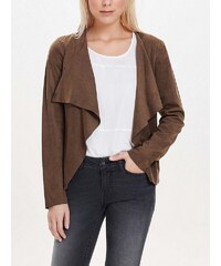 Only Drapierte Wildlederlook- Jacke