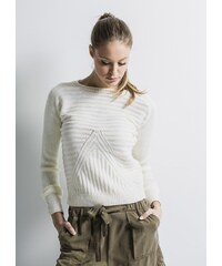 CLP Dámský svetr DS76118B Barva: Bílá,