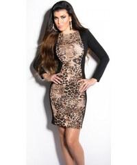 KouCla Dámské šaty DS9064CL Barva: Černá leopard,