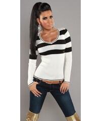 Koucla dámský svetr DS2108B Barva: Bílá,