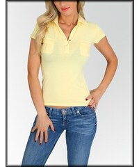 Fashion 70' s Dámské tričko polo FASHION A33-10723 žluté