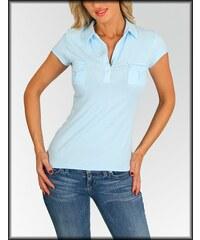 Fashion 70' s Dámské tričko polo FASHION B13-10723 modré
