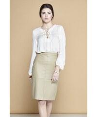 CLP Koženková sukně DS72201BE Barva: Béžová,