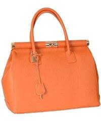 Kožená kabelka 800546 Orange FC8250
