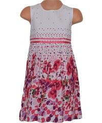 Topo Dívčí květované šaty - růžovo-bílé