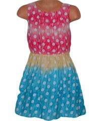 Topo Dívčí puntíkované šaty - barevné