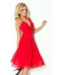 S-a-F Luxusní dámské společenské a plesové šifonové šaty SHIM.cz KARA 353 červené