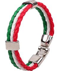 Lesara Dreigliedriges Flechtarmband Flaggen - Italien