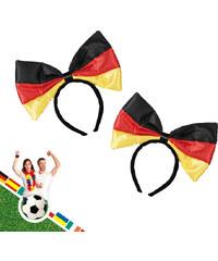 Lesara 2er-Set Plüsch-Haarreif Deutschland-Flagge