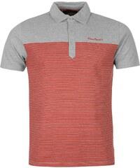 Polokošile pánská Pierre Cardin Striped Grey M/Red