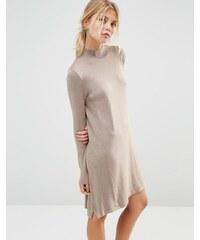 ASOS - Robe tunique tricotée en cachemire mélangé - Taupe