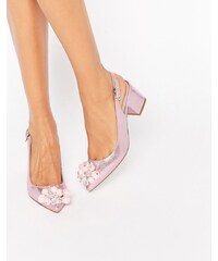 ASOS - SHIMMER - Chaussures à talons avec ornements et bout pointu - Rose