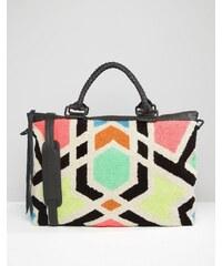 Cleobella - Avalon - Wochenend-Tasche mit Mosaik-Stickerei - Mehrfarbig