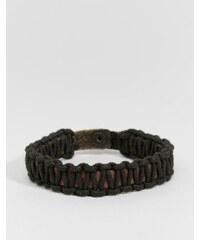 Jack & Jones - Bracelet en cuir tressé - Noir