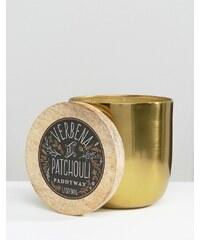 Paddywax - Gegossene Kerze, 12oz - Verbene und Patchouli - Gold