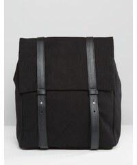 Pieces - Sac à dos rectangulaire minimaliste - Noir