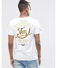 Von Dutch - T-Shirt mit Aufdruck hinten - Weiß
