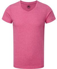 Chlapecké tričko HD V-výstřih - Zářivě růžová 116 (5-6)