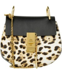 Chloé Sacs à Bandoulière, Drew Crossbody Mini Abstract White Leopard en marron, noir