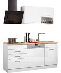Küchenzeile mit E-Geräten Haiti Breite 170 cm HELD MÖBEL weiß
