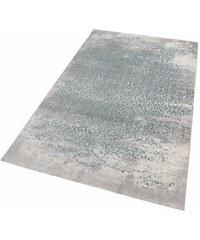 Teppich merinos Gayla Vintage Hoch-Tief-Effekt MERINOS blau 2 (B/L: 80x150 cm),3 (B/L: 120x170 cm),4 (B/L: 160x230 cm),6 (B/L: 200x290 cm)