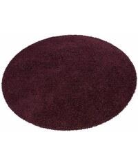 Bruno Banani Hochflor-Teppich rund Shaggy 50 Höhe 50 mm maschinell getuftet lila 10 (Ø 190 cm)
