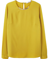 MANGO Blouse Ornement Col