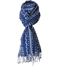 Monsieur Charli Echarpe Bleue Imprimée - Ushuaïa