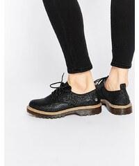 Blink - Chaussures plates épaisses et pailletées avec lacets - Noir