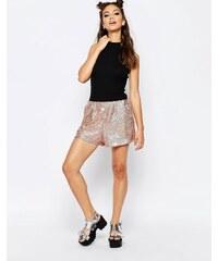 Jaded London - Shorts mit Pailletten - Gold