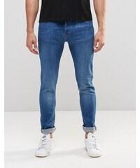 LDN DNM - Jean super skinny à délavage vieilli - Bleu