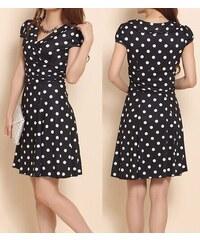 3b3f03ff611 LM moda A Letní šaty puntíkaté černo bílé 580B