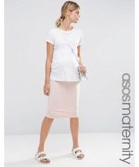 ASOS Maternity ASOS Maternité - Jupe fourreau mi-longue en jersey - Rose