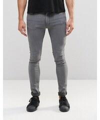 LDN DNM - Jean skinny stretch - Délavage gris moyen - Gris
