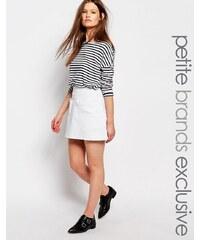 Waven Petite - Mini-jupe en jean à poches - Blanc